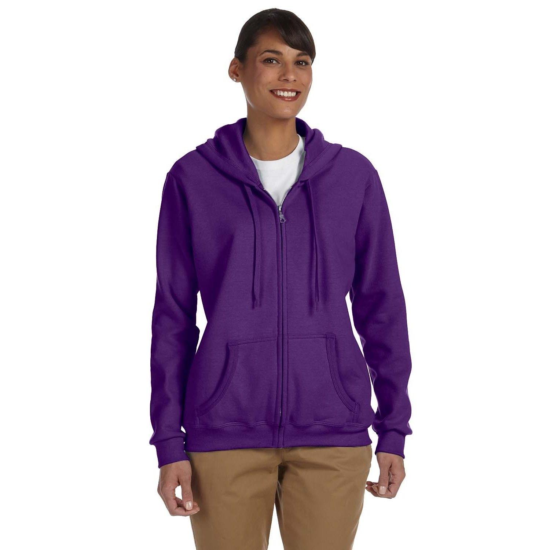 Heavy Blend Womenus Purple Fullzip Hoodie by Gildan Full