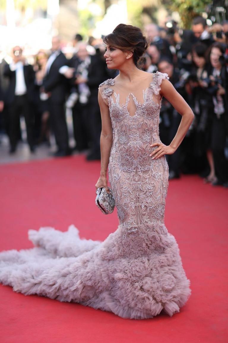 Eva Longoria con un vestido de sirena en el Festival de Cannes, el ...