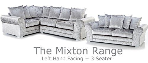 The Sofa & Bed Factory New Mixton Crushed Velvet Large 4