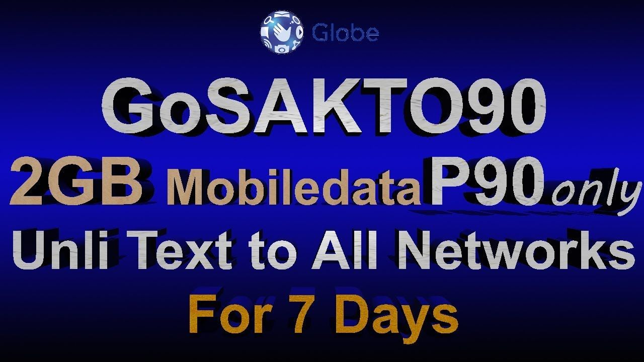 How To Register Gosakto90 Using Mobile Phone Globe Telecom Promo Phi Globe Telecom Mobile Phone Phone