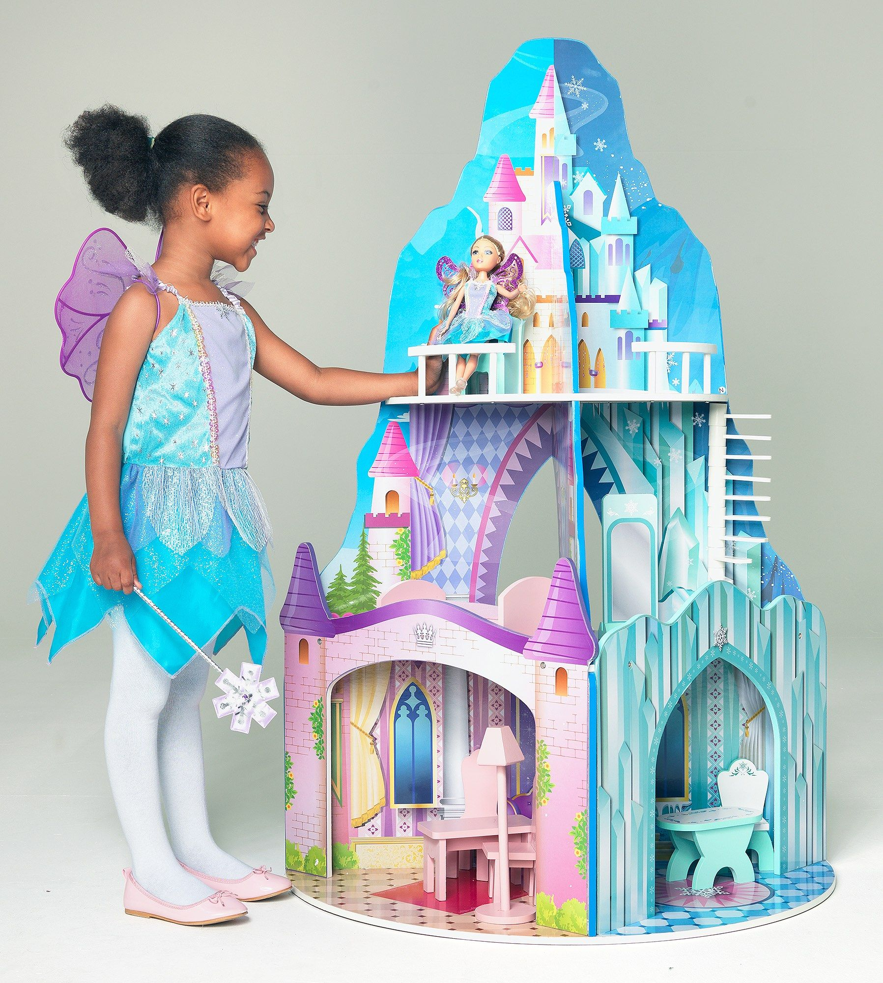 Dolls house at argos co uk your online shop for dolls houses dolls - The Chad Valley Summer Winter Dolls House Gives Your Little One The Choice To Create Imaginative