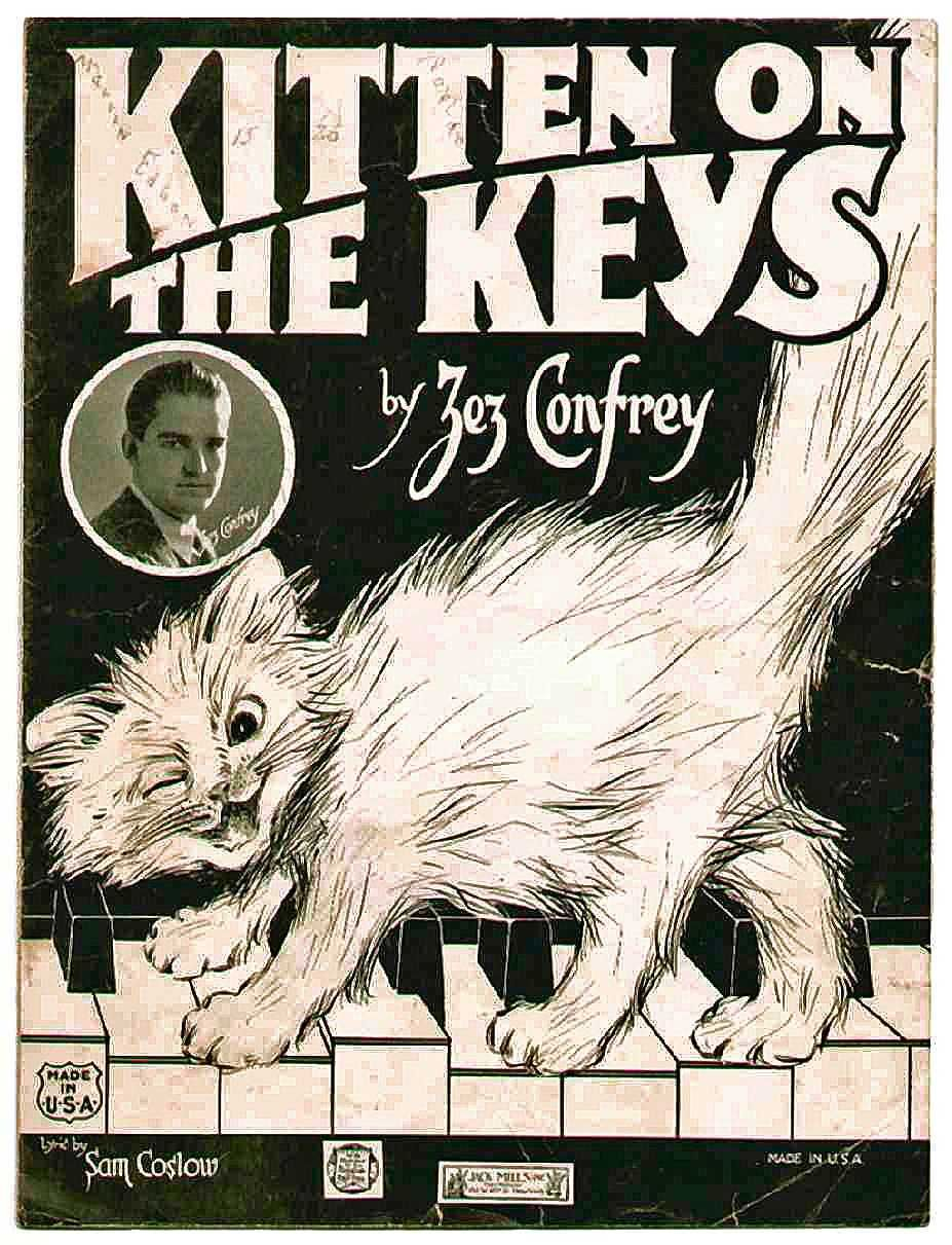 Vintage sheet music cover. Funny one with a kitteh
