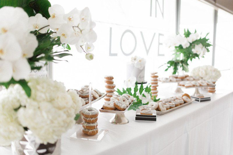 A Black And White Modern Engagement Party Inspiration Shoot Engagement Party Dessert Table Engagement Party Table Engagement Party Centerpieces