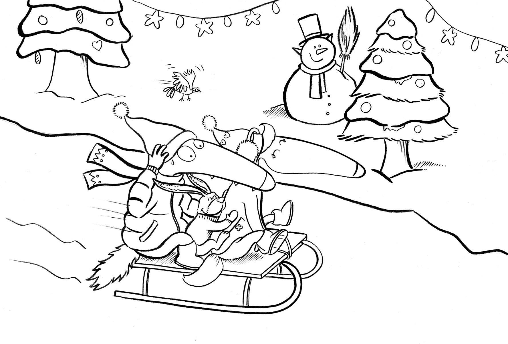 Loup Joyeux Noël à tous !!! (avec images) | Coloriage loup ...