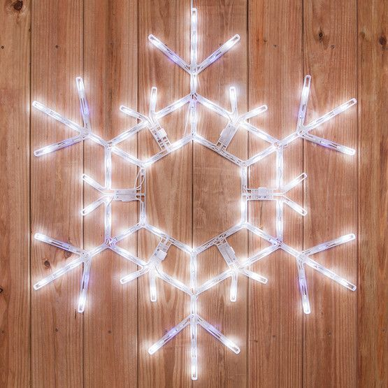 Led Folding Snowflake Decoration Cool White Twinkle Lights Christmas Lights Etc Snowflake Christmas Lights Christmas Light Installation Outdoor Holiday Decor