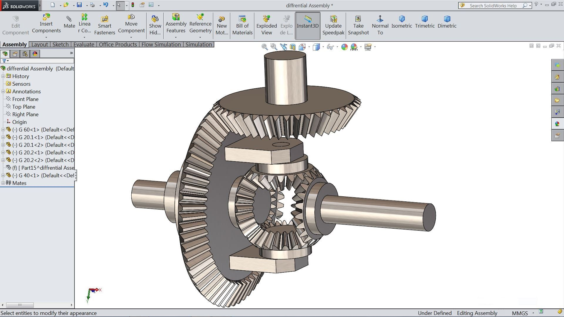 Solidworks tutorial | sketch Differential Gear Box in ...