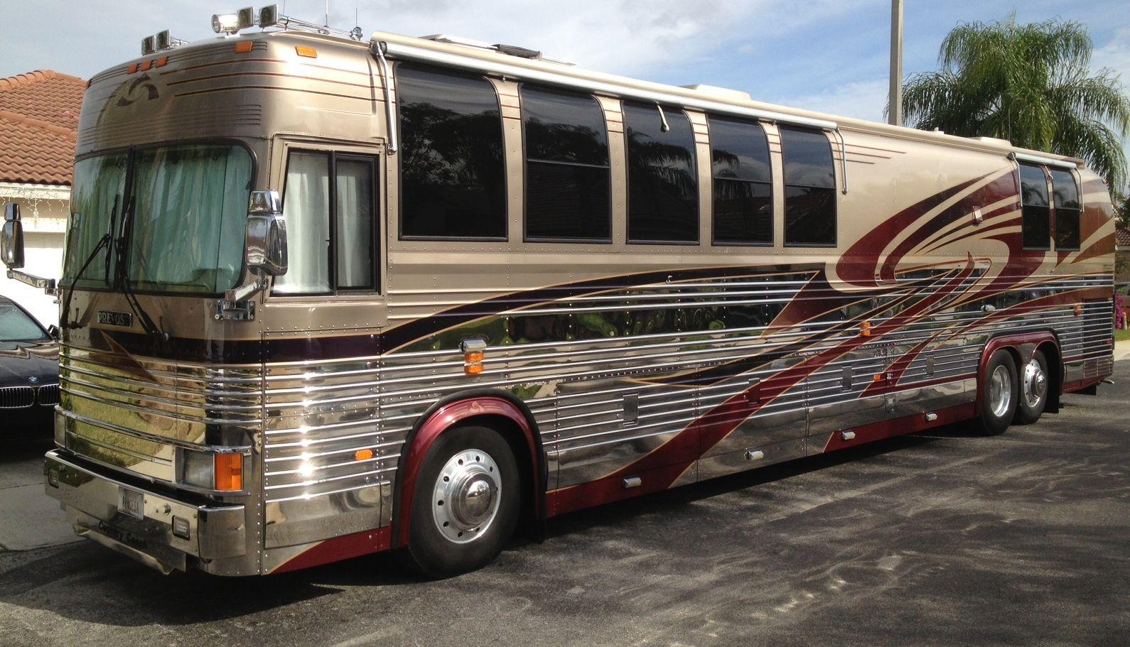 Sold 1999 Prevost Xl Country Coach 45 Panterra Coach Recreational Vehicles Prevost Coach Luxury Bus