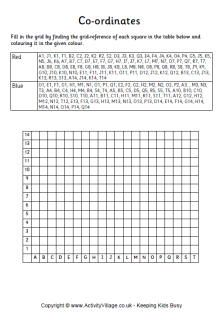 Union flag coordinates worksheet Mental maths worksheets