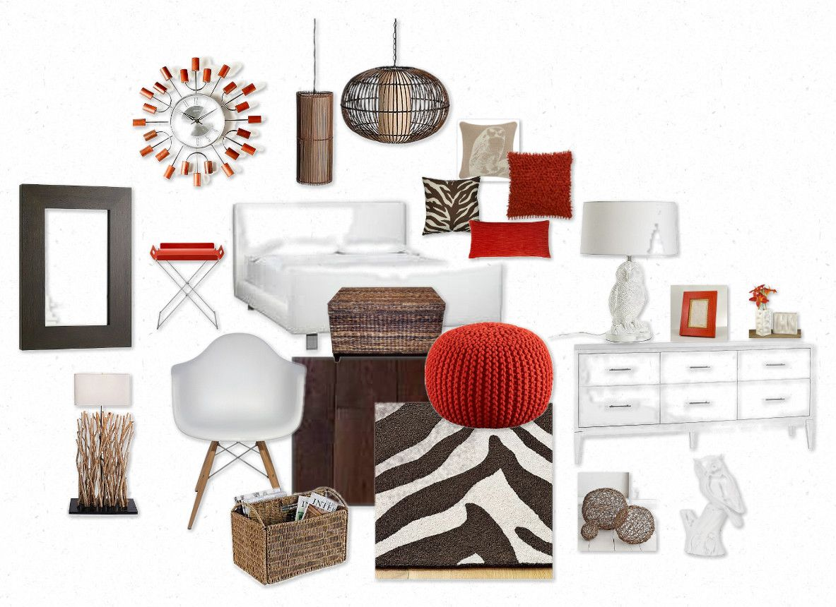 Orange and Zebra Bedroom Mood Board | Mood boards, Decorating and ...