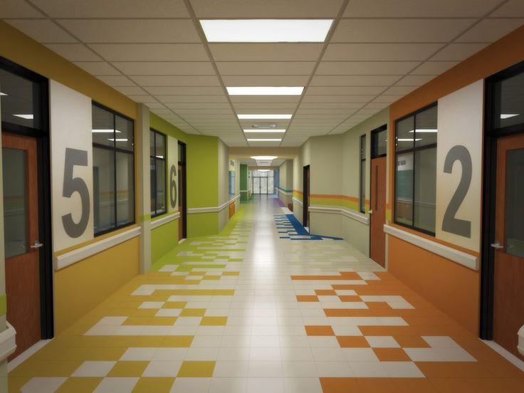 High School Interior Design COMMON AREAS