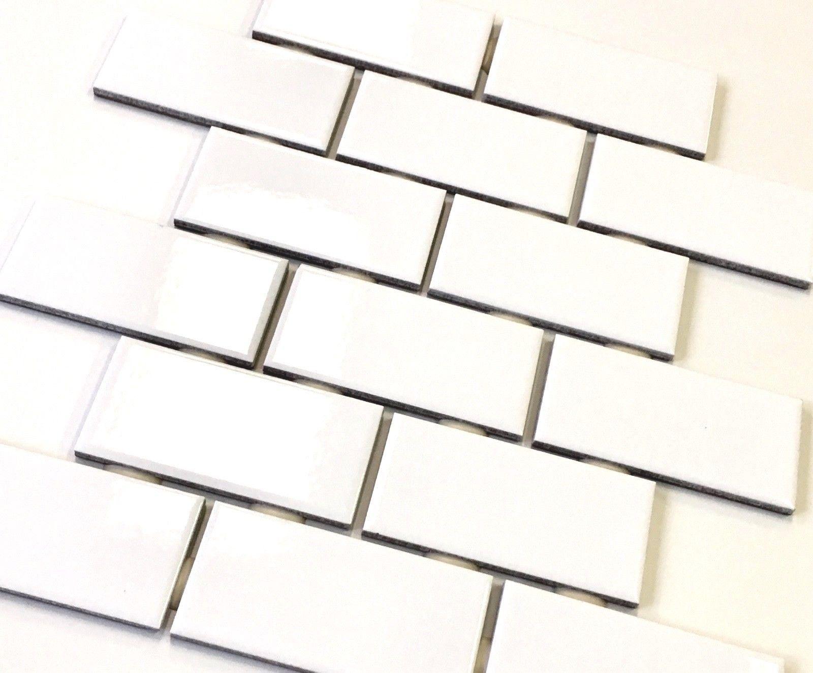 2x4 White Subway Glossy Ceramic Tile Kitchen Backsplash Bathroom 1 Sheet To View Additional Bathroom Backsplash Kitchen Tiles Backsplash Kitchen Backsplash