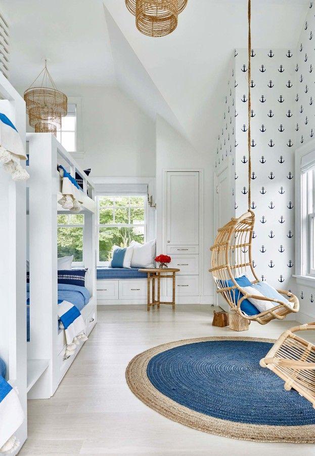 Dormitorio infantil de estilo n utico decoraci n de for Pinterest decoracion de interiores
