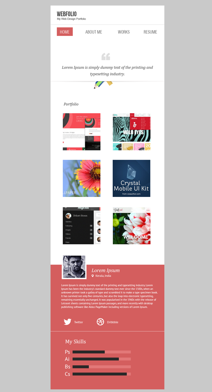 Mobile Website Templates 16 Premium And Free Psd Website Templates  Template Minimal And