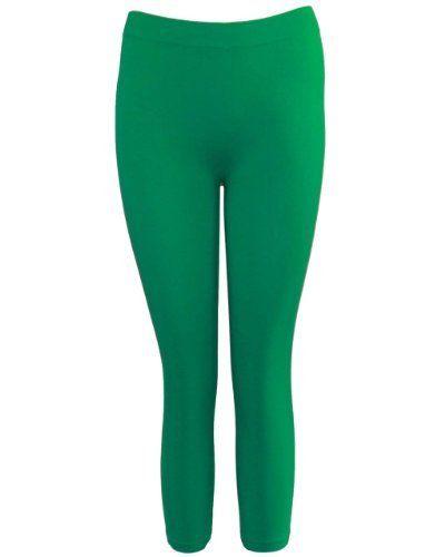 Green Seamless Capri Leggings Three Quarter Length FineBrandShop. $5.90