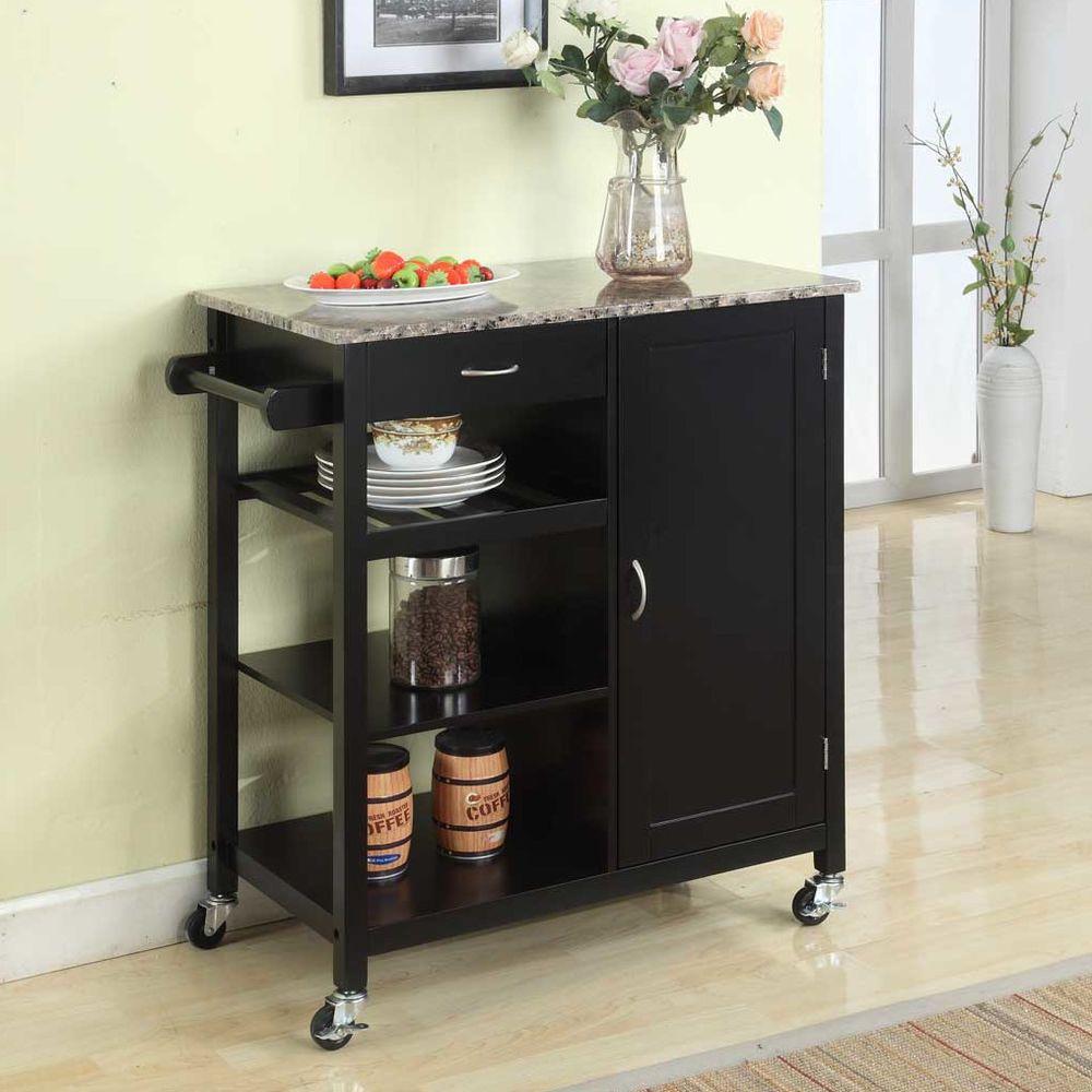 kitchen utility cart storage drawer shelf cabinet towel