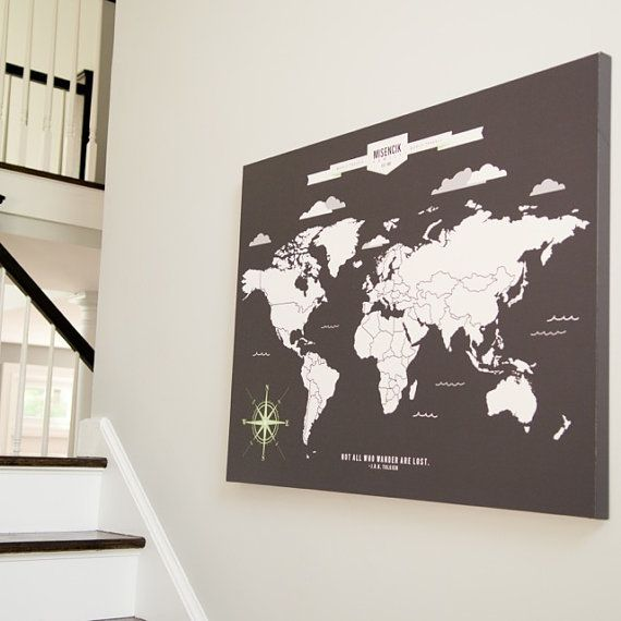 World map art interactive family map mark the by paperramma world map art interactive family map mark the by paperramma wall pinterest hgtv magazine hgtv and farmhouse living rooms gumiabroncs