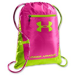 Under Armour Hustle Sackpack  | FinishLine.com | Pink/Green