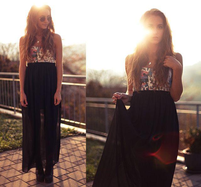 1a16503c0 Looks con faldas largas negro - Trendtation | Style | Faldas largas ...