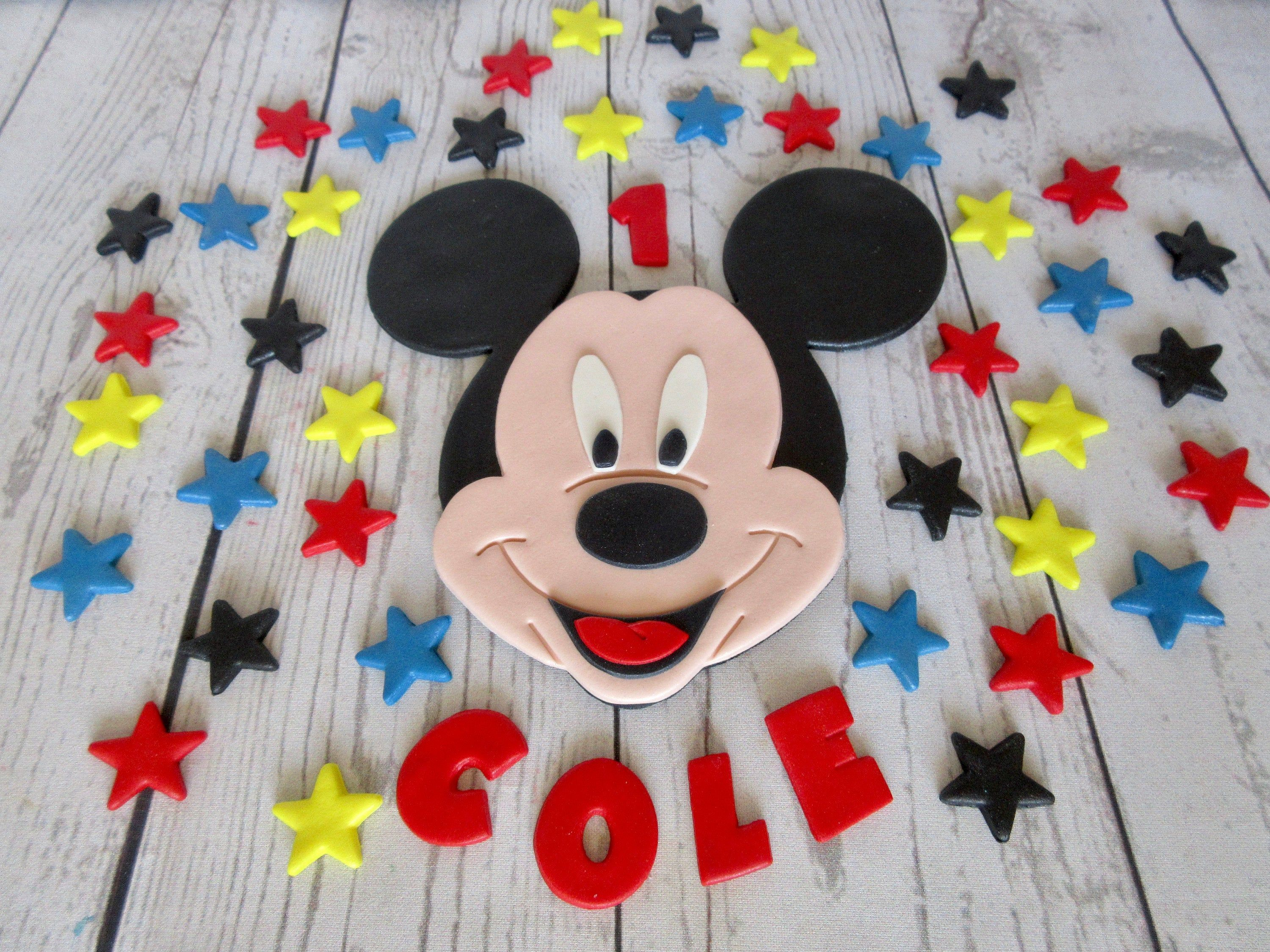 Edible mickey mouse cake topper personalised mickey mouse