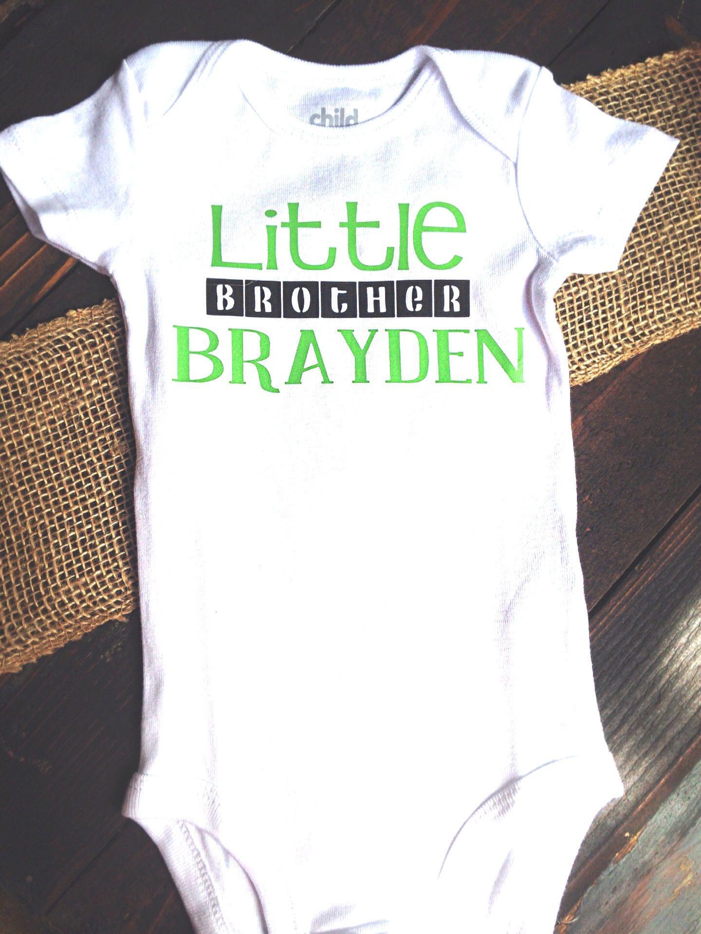 c8415793c Little brother onesie custom onesies customized little Etsy Christmas,  Christmas Baby, Custom Baby Onesies