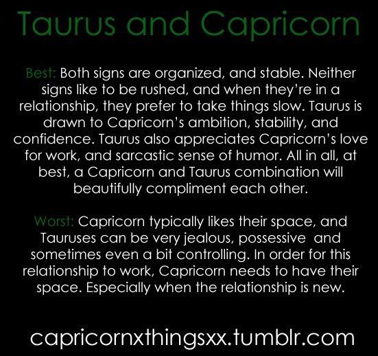 Are taurus and capricorns compatible