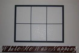 Diy Faux Window Frame Windows Home