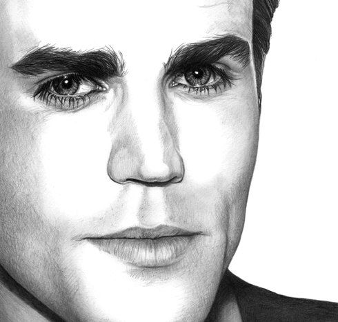 Paul wesley stefan salvatore the vampire diaries by - Vampire diaries dessin ...