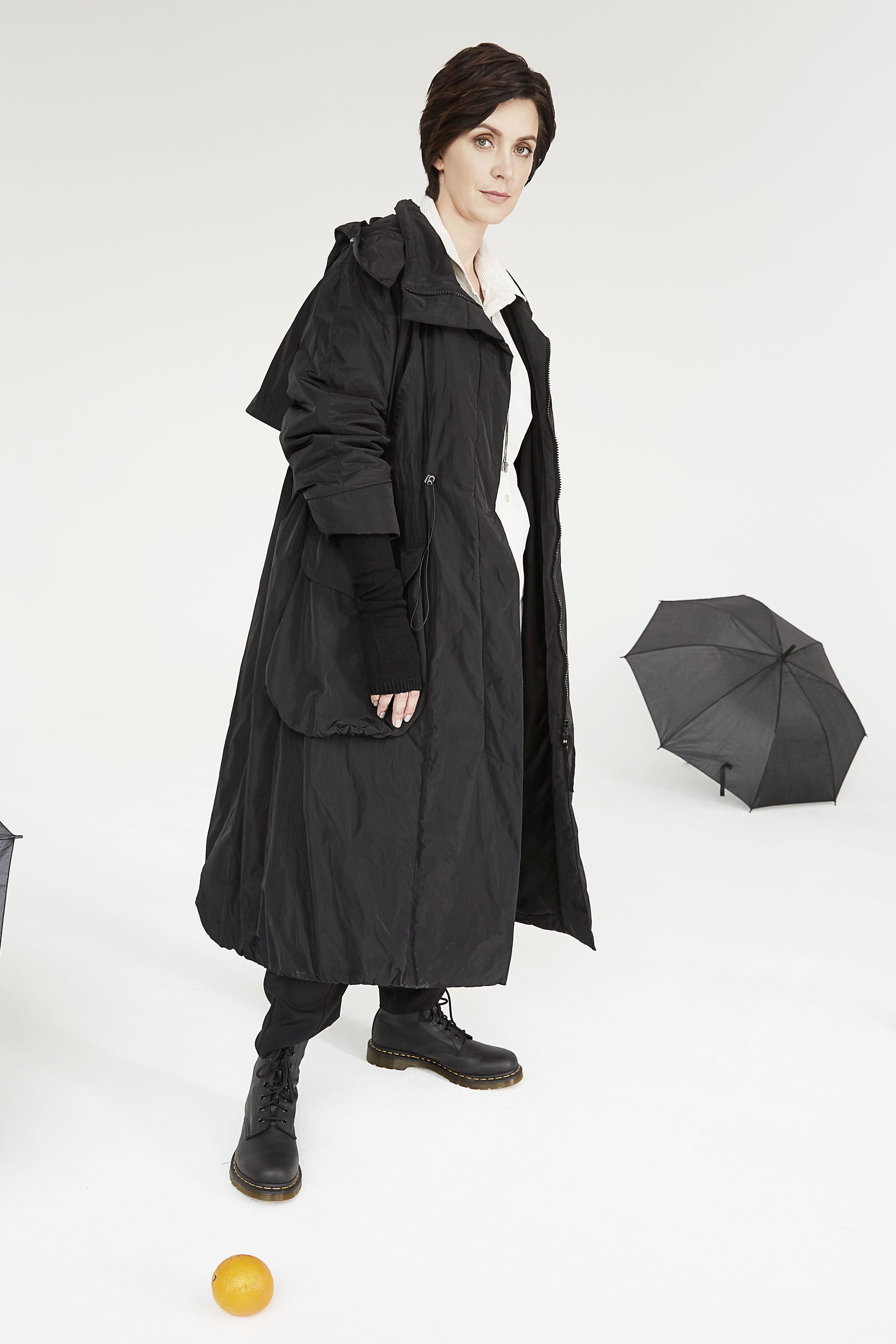 9fd82085db8 Парка длинная на утепленной подкладке 00 Черный (noir) от Lesel (Лесель) ⛟