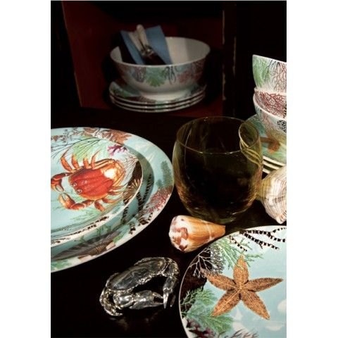 "Ocean dinner plate 11 3/4"" dia | Gracious Style"