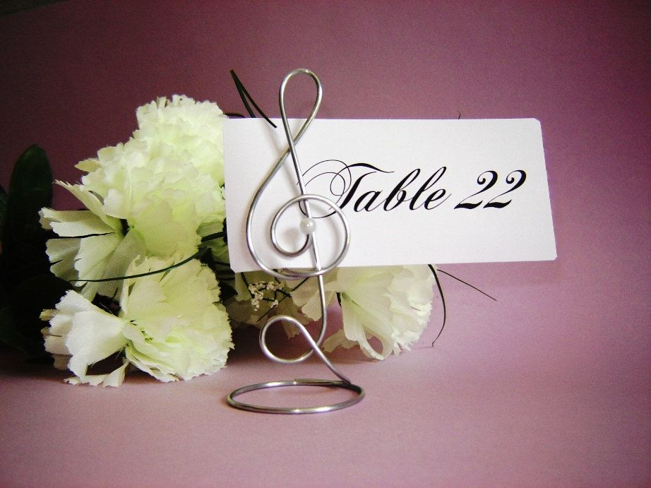 Treble Clef Table Number Holders 8 By Creativestamps On