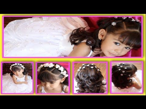 Peinados Para Primera Comunion Bautizo Y Fiesta Super Faciles Y Duraderos Peinados Primera Comunion Peinados Para Ninas Pelo De Nina Pequena