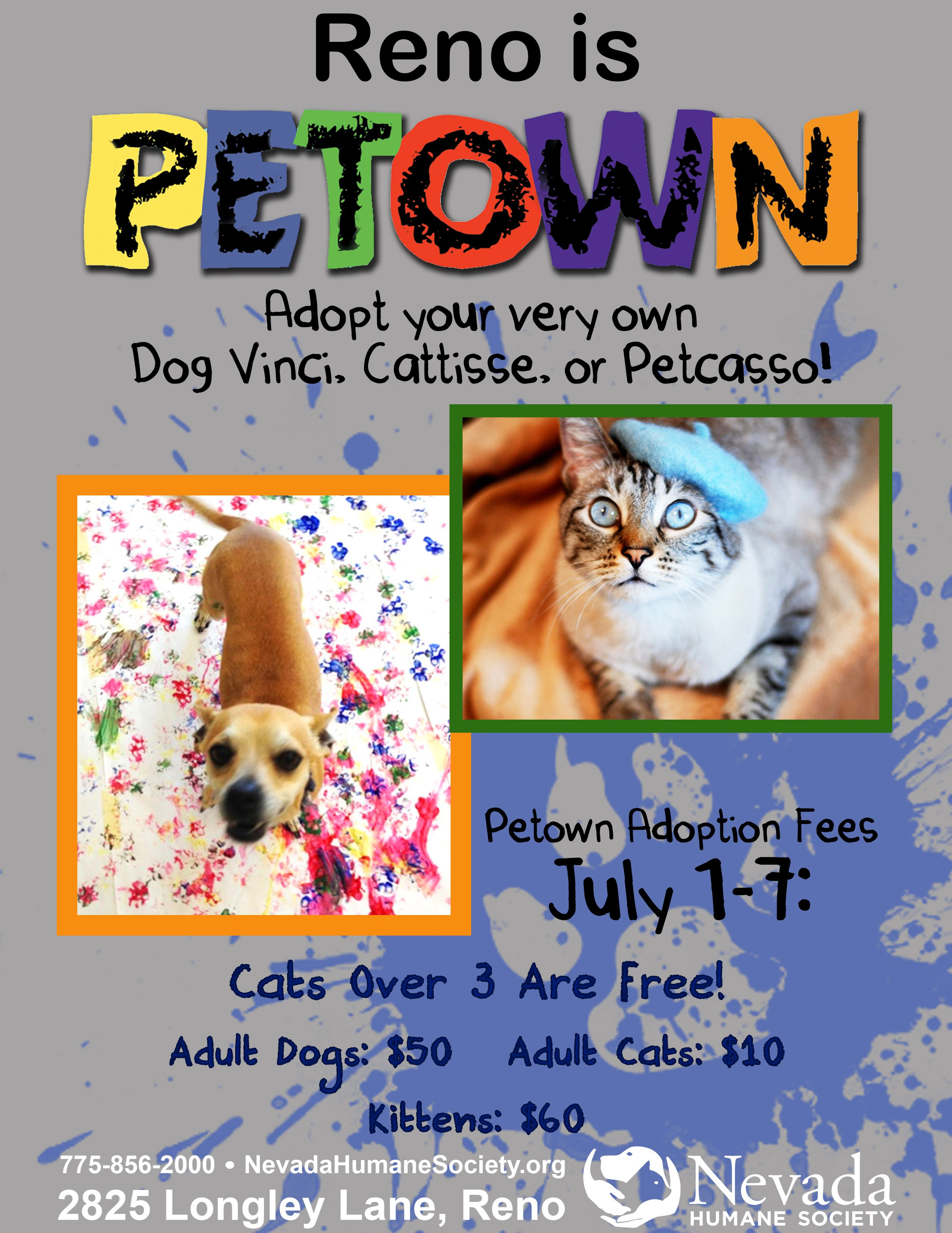 Based off Reno's Artown, Nevada Humane Society came up
