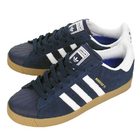 Cheap Adidas Superstar Vulc Adv Blue / White / Gold Graaf