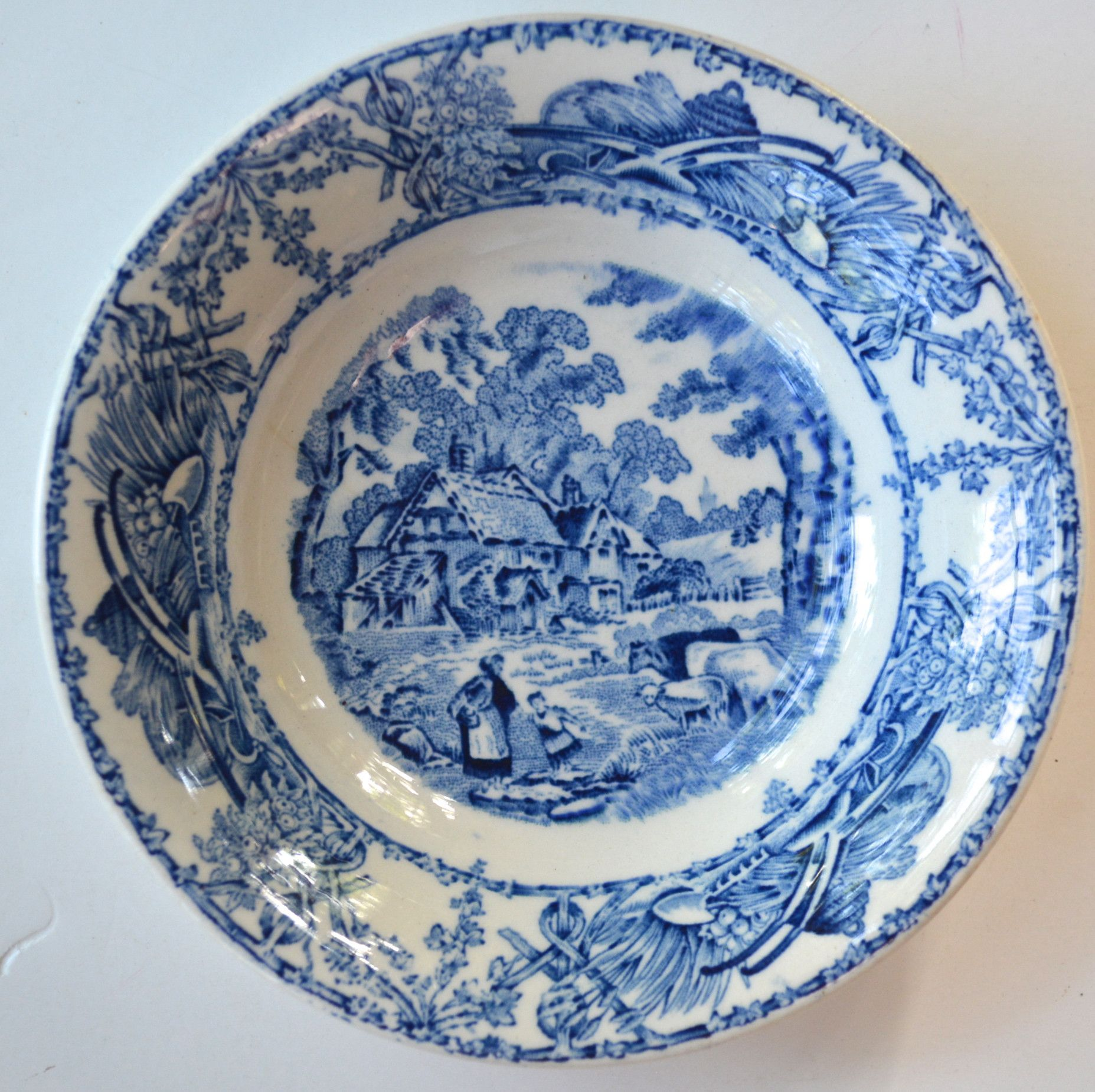 Blue Toile TRANSFERWARE Bowl Candy Dish Trinket Dish Mother Child Cows Lamb Farm  sc 1 st  Pinterest & Blue Toile TRANSFERWARE Bowl Candy Dish Trinket Dish Mother Child ...