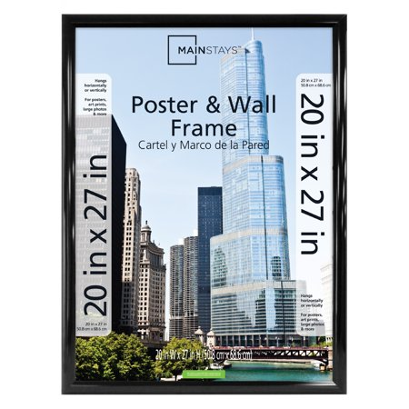 Mainstays 20x27 Trendsetter Poster Picture Frame Black Walmart Com Plastic Picture Frames Picture Frames For Sale Picture Frame Sizes