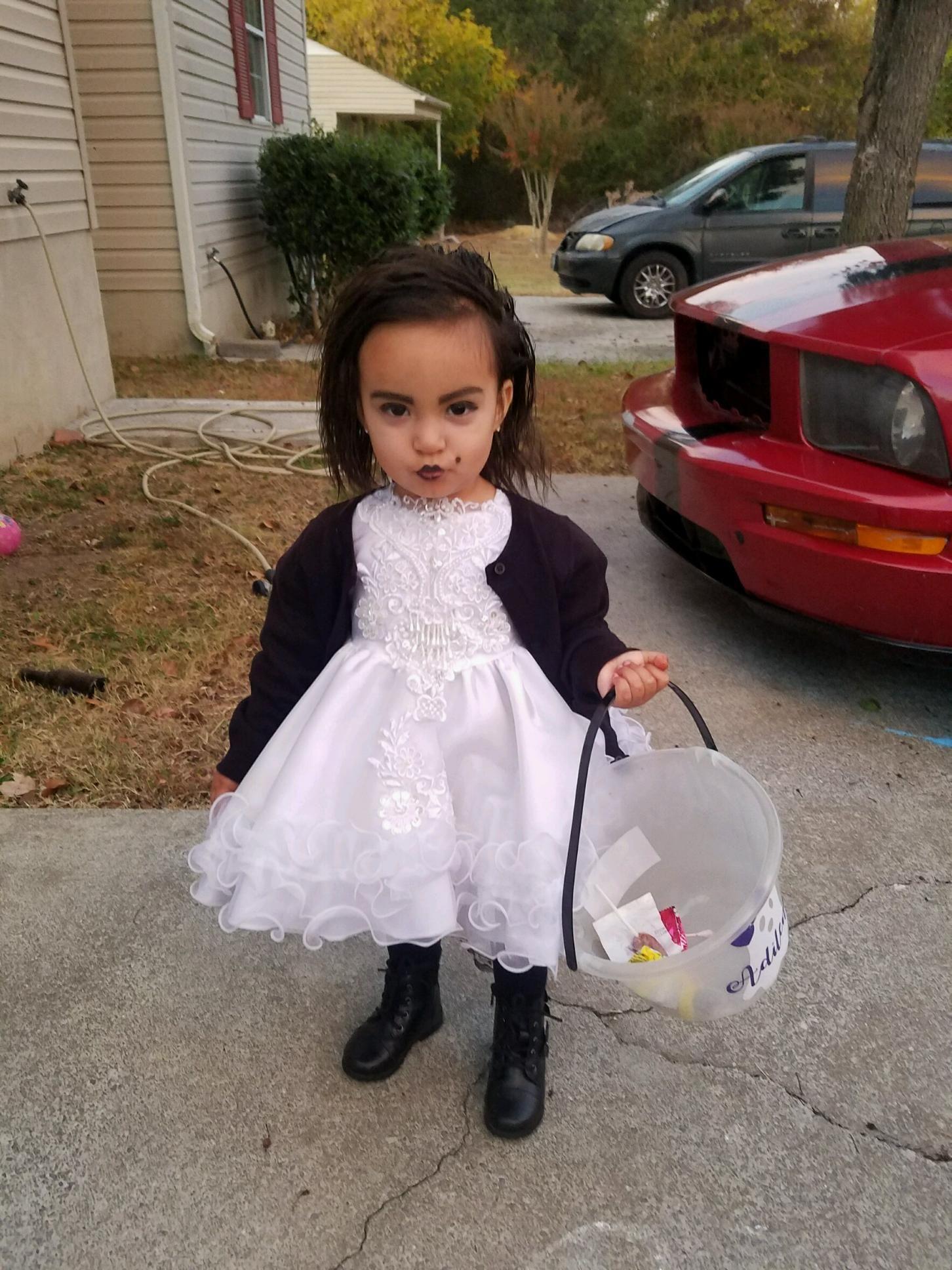 toddler bride of chucky costume diy | luna kids | pinterest