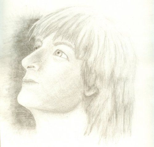 I drew this in 2008, back before I knew how to draw faces - a paused youtube video of Plushenko's post-OGM Caruso.He inspired me to ta...