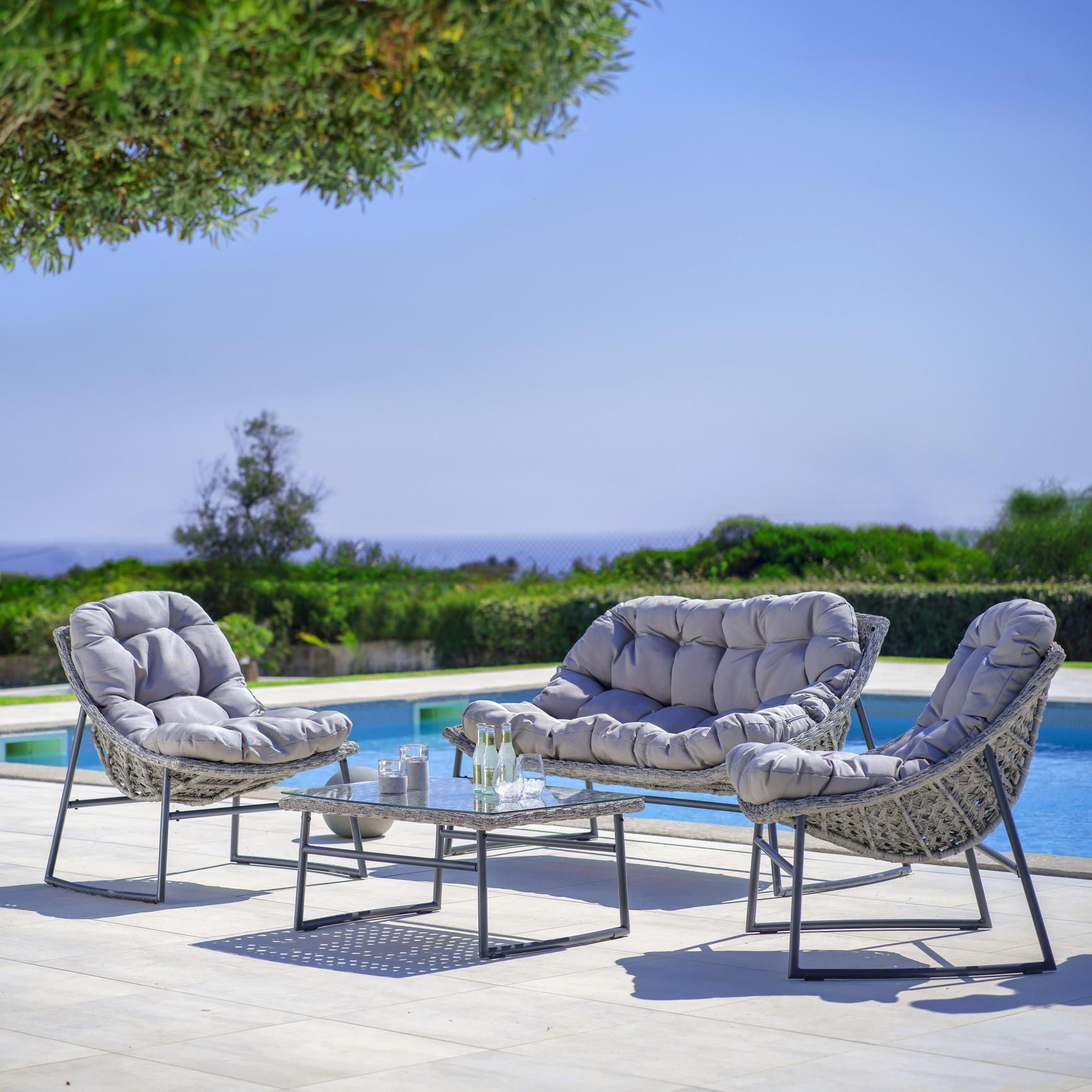 Loungegarnitur Cathy Inkl Auflagen Online Kaufen Momax Polyrattan Polyrattan Sitzgruppe Lounge Garnitur