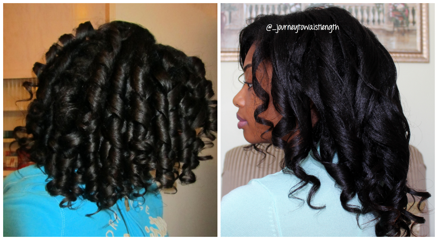 Healthy Hair Styles: Curlformers On Relaxed Dry Hair Vs Wet Hair