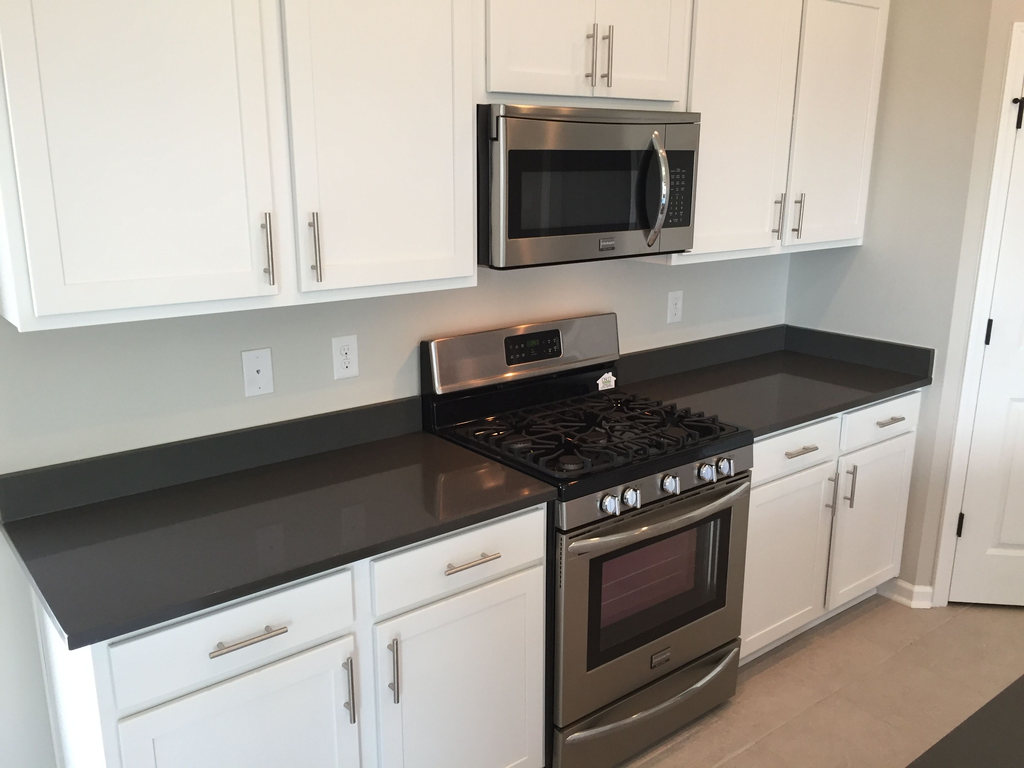 Oxford Kitchen White Cabinets Graphite Quartz Counters Sweet Home Kitchen Cabinet