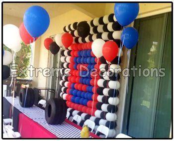 how to make racecar flag balloon column Yahoo Image Search