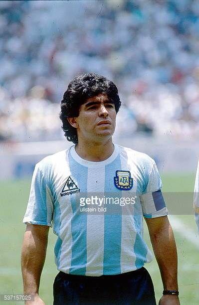 1986 Fifa World Cup In Mexico Armando Diego Maradona Football Player Argentina Member Of The National Team Maradona I Diego Maradona Football Images Football