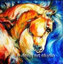 Pittura a olio moderna handmade firmato dal petrolio cavallo tela dipinto arte serie, commercio all'ingrosso da adeng studio as043  (China (Mainland))