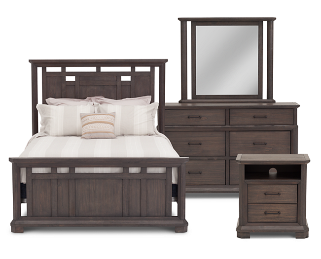 Gray S Peak Panel Bedroom Set Bedroom Panel
