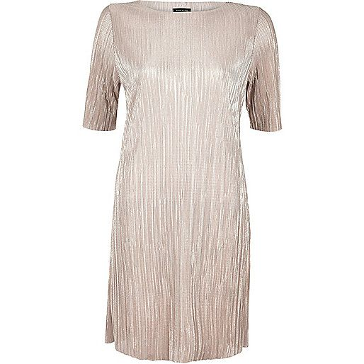 b833eb141e Rose gold metallic pleated dress - day   t-shirt dresses - dresses - women