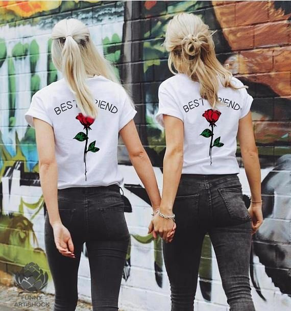 8baba4ea88 BEST FRIEND Couples Shirts, Matching Couple Shirts, Matching Couple ...