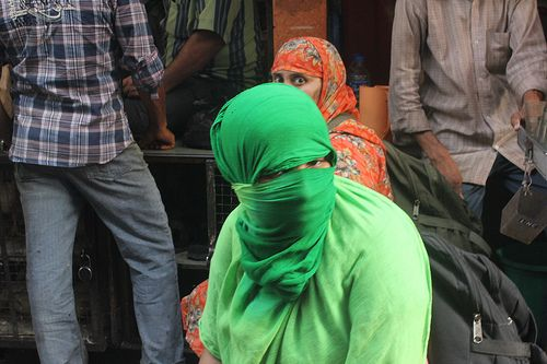 The Quintessential Muslim Niqab or Veil ..To Hide The Wearer From Evil Eyes of the Male