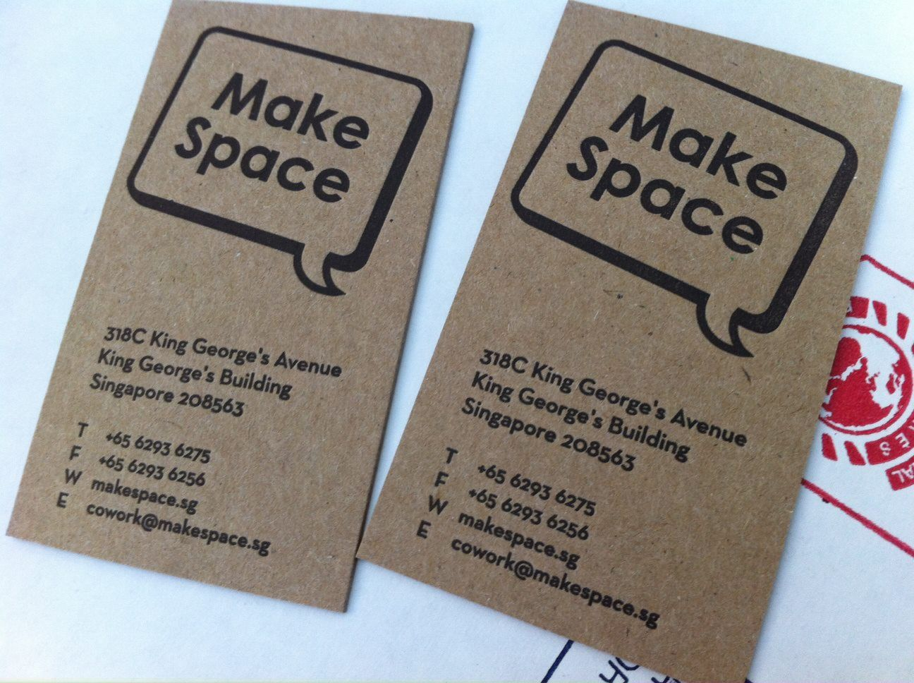 Letterpress business cards, on 100% recycled kraft paper. Produced ...