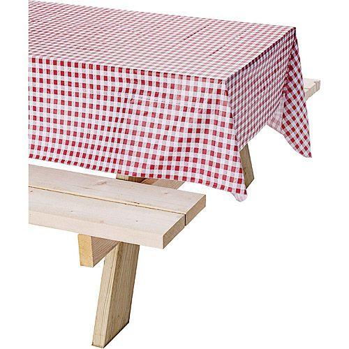 Coleman Tablecloth Red Checkered 54 X 84 Walmart Com Table Cloth Picnic Tablecloth Vinyl Tablecloth