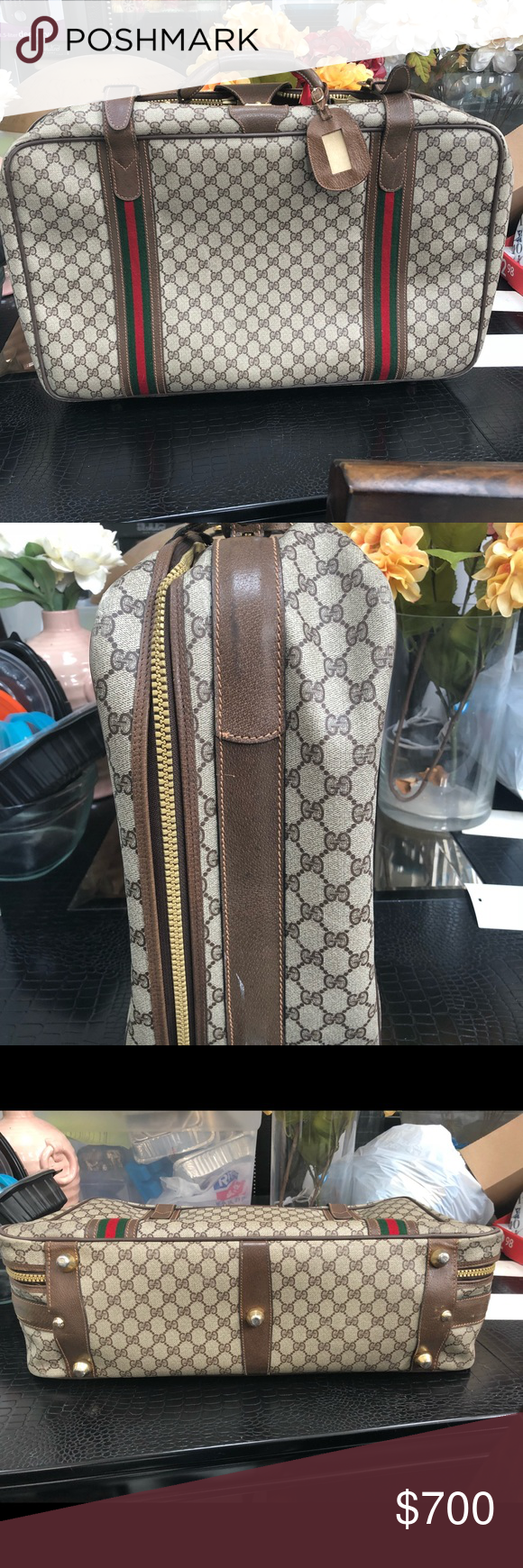 800f4108815 Gucci Vintage Monogram Suitcase Travel Luggage Preowned with love! I ship  next day! This